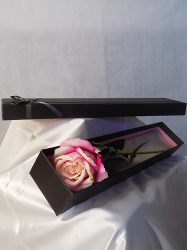 Blooming Essentials Ltd Artificial Velvet Rose In Gift Box