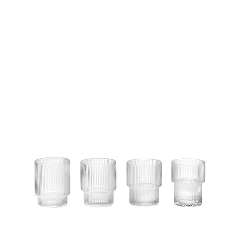 Ripple Glass - Set of 4, Accessory Glassware, Ferm Living, Places and Spaces Design Ltd