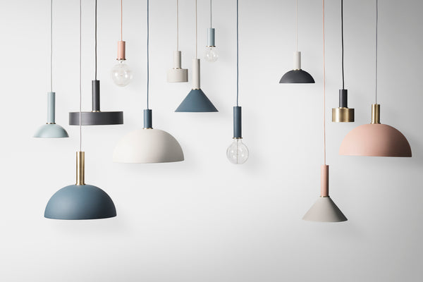 Opal Shade Tall - High Socket Pendant, Lighting Pendant Light, Ferm Living, Places and Spaces Design Ltd