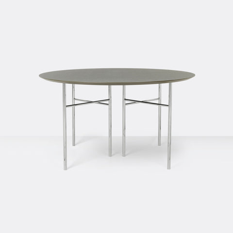 Mingle 130cm Round Table, Chrome Legs