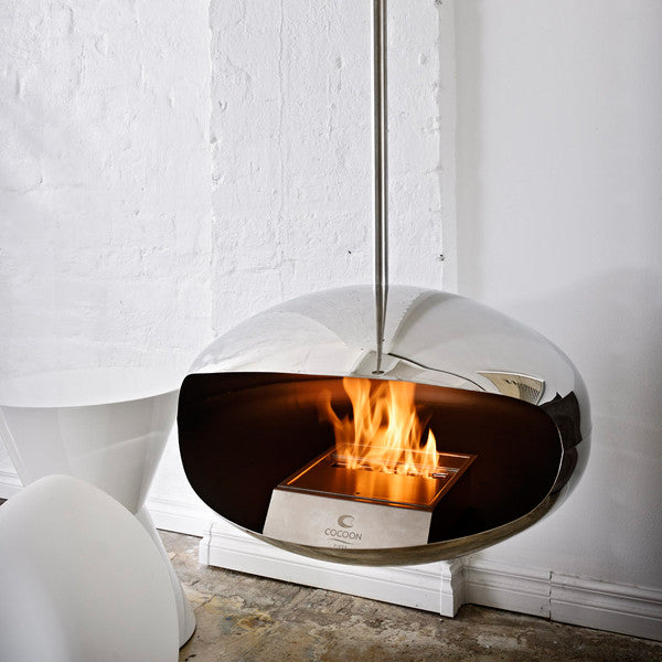 Aeris Fireplace, Furniture Fireplace, Cocoon Fires, Places and Spaces
