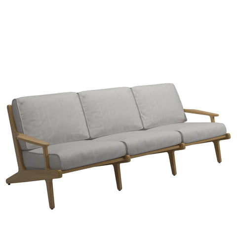 Bay Outdoor Three Seater Sofa, Furniture Outdoor, Gloster, Places and Spaces Design Ltd