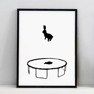 Bouncing Rabbit Print, Accessory Print, Ham Made, Places and Spaces Design Ltd