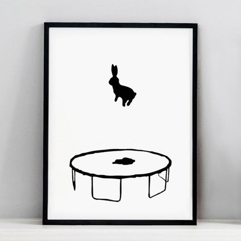 Bouncing Rabbit Print, Accessory Print, Ham Made, Places and Spaces