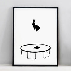 Bouncing Rabbit Print