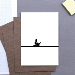 DJ Rabbit Card, Accessory Greeting Card, Ham Made, Places and Spaces Design Ltd