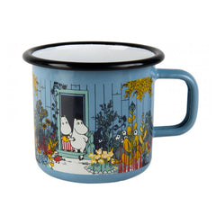Moomins on the Riviera - Moomin House Enamel Mug