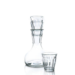 French Decanter with four glasses