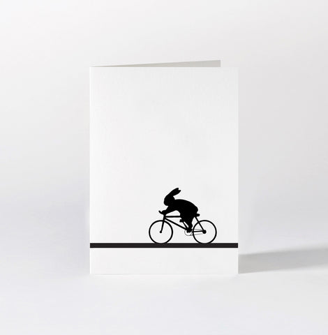 Racing Bike Rabbit Card