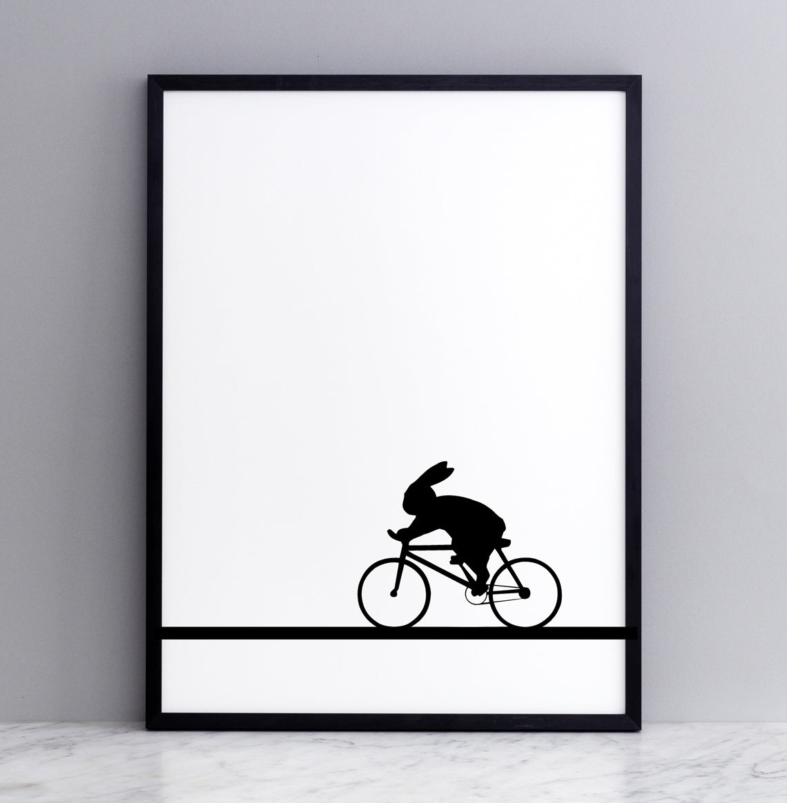 Racing Bike Rabbit Print