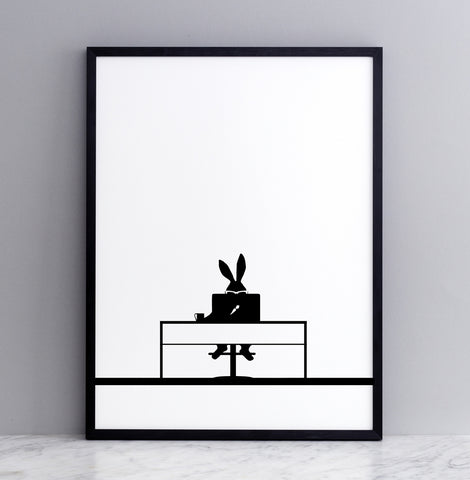 Working Rabbit Print