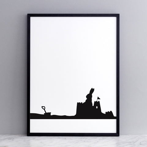 Seaside Rabbit Print