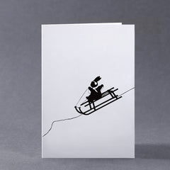 Sledging Rabbit Card