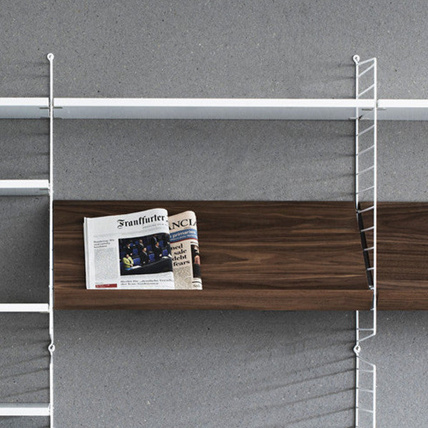 String - Wooden magazine shelf, Furniture Shelf storage, String, Places and Spaces Design Ltd