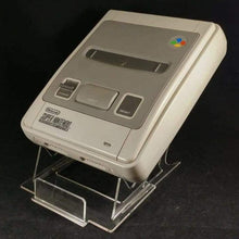 Load image into Gallery viewer, Super NES Console Acrylic Display Stand (obtuse angle)