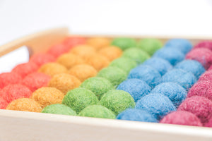 50 Handmade Montessori Sensory New Zealand Wool Transfer Balls for Children [School/Homeschool/Sensory Play]
