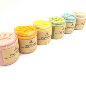Natural Organic Playdough - Rainbow Pack 6, 6oz Containers - SimplytoPlay