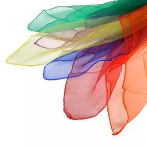 Rainbow Play Scarves for Waldorf Montessori Preschool Classroom - Sensory and Imaginative Play for Children and Kids
