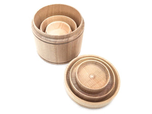 Montessori Toy Nesting Cups / Waldorf Toy / Sensory Play / Montessori Material / Wooden Cups - SimplytoPlay