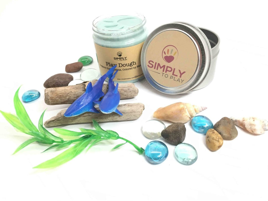 Natural Playdough Kit - Baby Shark Mini Kit - SimplytoPlay