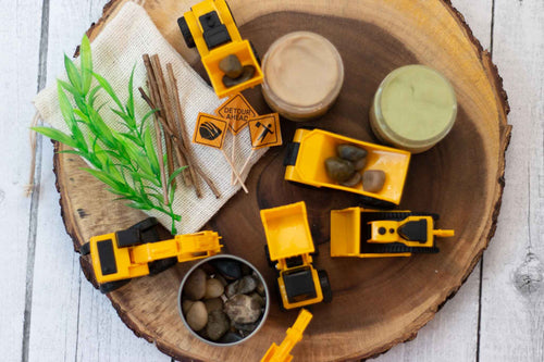 Natural Playdough Kit - Construction Zone! - SimplytoPlay