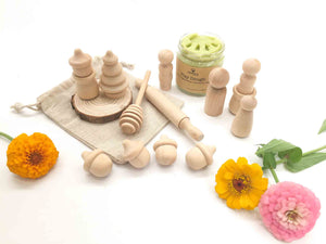 Natural Playdough Kit - Peg Party - SimplytoPlay