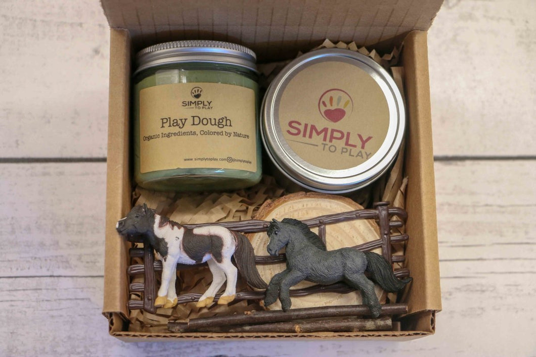 Natural Playdough Kit - Pony Mini Kit - SimplytoPlay