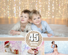 Load image into Gallery viewer, 45 Digital Backdrop background texture bokeh, Photoshop overlays, Christmas holliday lights, Wedding, photo session, jpg