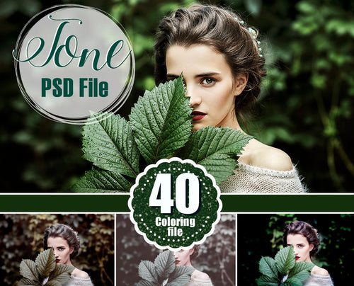40 color coloring file, tone effect, digital backdrop, Photoshop overlay, Photography Editing, Photo Edit editing, photo retouch, psd