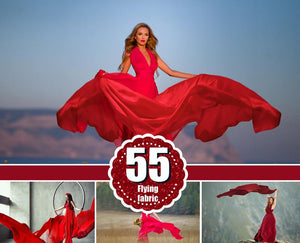 55 Flying fabric dress Photo Overlays, Photoshop Mix Overlay, flowing cloth wave, silk waving flying satin, wedding, digital backdrop png