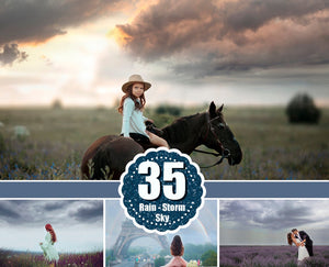 35 Rain storm dark sky Photo Overlays, beautiful realistic nature dramatic lightning sky skies, Digital background, Photoshop Mix jpg