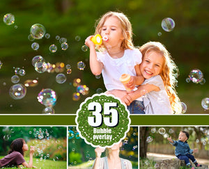35 soap air bubble photo Overlays, Photoshop Mix Overlay, Photo Prop, realistic nature bubble Photo effect, png file