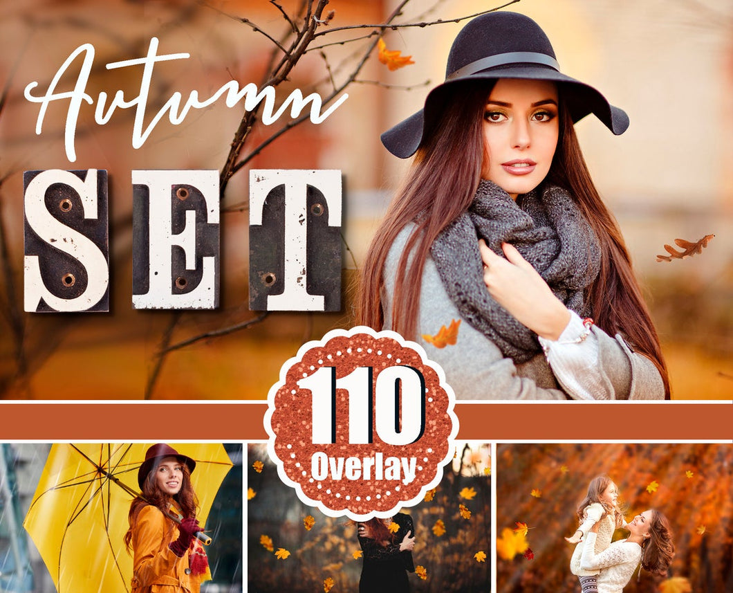 Autumn Set Photo Overlays Falling Leaves, fog, cloud, sky, raine, sun, light, background, photoshop overlay, Autumn Bundle, realistic effect