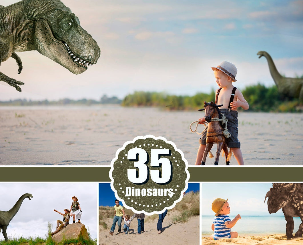 35 Dinosaurs Tyrannosaurus Rex T-Rex Dino Velociraptor animal, animals clipart, digital overlays, photo edit, photoshop overlay, png