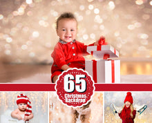 Load image into Gallery viewer, 65 Christmas backdrop background texture bokeh (overlays, overlay, lights, lights) Photoshop, holiday, New Year, winter, photo session, jpg