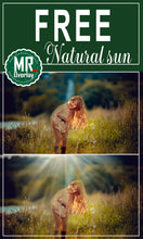 Load image into Gallery viewer, FREE natural sun light Photo Overlays, Photoshop overlay