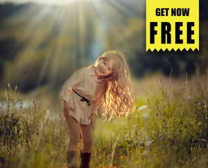FREE natural sun light Photo Overlays, Photoshop overlay