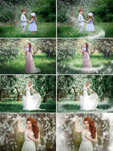 Load image into Gallery viewer, 35 Wight Blossom petals, spring summer orchard overlays, Photosho overlay, Painted Photo frame, Dancing Rose Flower Falling Petals, png
