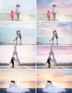 35 Dreamy romantic pastel sky, skies clouds gimp overlay, beach realistic magical lavender sky, Photoshop Overlays, digital backdrop jpg