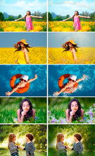 Load image into Gallery viewer, Summer set Photo Overlays rain, brunch, flower, backdrop, sky, sun, ballons, Photoshop overlay, Summer Bundle, realistic effect