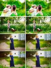 Load image into Gallery viewer, 35 Grass Photo Overlays, Photography Overlays, Photo Prop, green summer magic fairy, Shooting through the grass, png file