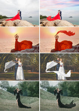Load image into Gallery viewer, 35 Flying fabric dress Photo Overlays, Photoshop Overlay, flowing cloth, flying silk satin, wedding, Overlay Extensions png file