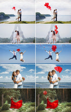 Load image into Gallery viewer, 35 Heart balloons photo overlays, valentines Photoshop overlays, love and wedding romantic overlays, valentines overlays, png file