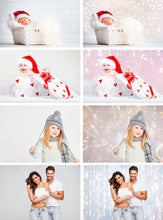 Load image into Gallery viewer, 30 lights digital backdrops, Photoshop photo overlays, Gold bokeh, Holiday Lights, digital background, digital backdrop, Bokeh, jpg