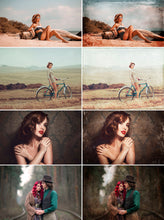 Load image into Gallery viewer, 70 vintage grunge retro old photo Effect Overlays, digital backdrop, photography textures background tone dust, Photoshop overlay, png file