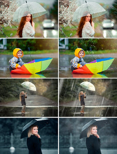 35 Rain rainbow Photoshop Overlays, Photography Photo Prop, drops, backdrops, Photo effect, Realistic rain, Raindrops, png jpg file