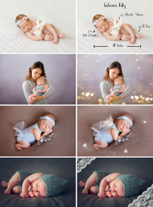 140 Baby newborn children photo overlays, bokeh, wordart, magic effect, wing, background, frame, kiss, butterfly fairy Photoshop overlay