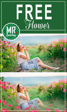 Load image into Gallery viewer, FREE flower rose Photo Overlays, Photoshop overlay