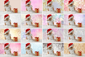 45 Digital Backdrop background texture bokeh, Photoshop overlays, Christmas holliday lights, Wedding, photo session, jpg