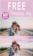 Load image into Gallery viewer, FREE sky cloud Photo Overlays, Photoshop overlays